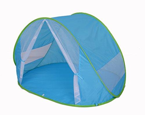 Kiddus Tienda Carpa Refugio de Playa. 100% Proteccion Rayos UV, Pop up automontable y Plegable. Paravientos. Tela Muy Ligera, Ideal para Proteger del Sol niños y Bebés (Tienda Mosquitera)