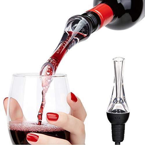 Aireador de vino vertedor – Premium aireador vertedor y decantador boquilla, PTTECH aireador de vino – boquilla de vino – Aireador de vino tinto – Aireador de vino adjunto