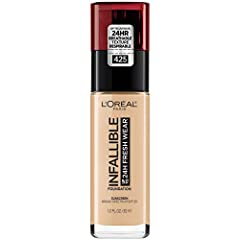 Lightweight Breathable Longwear: This foundation provides medium to full buildable coverage and a natural finish available in 40 shades. Ultra thin, breathable liquid goes on smoothly for a healthy-looking complexion. Color stays true and blends in e...