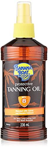 Banana Boat Protective Tanning Oil Spray SPF 8 Sunscreen, 82 Fl Oz