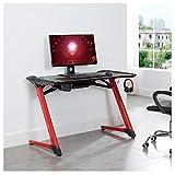 CARO – Gaming Tisch LED (rot / schwarz) - 8