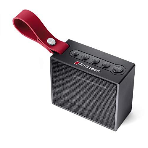 Audi 3291700700 Bluetooth Lautsprecher, schwarz/rot