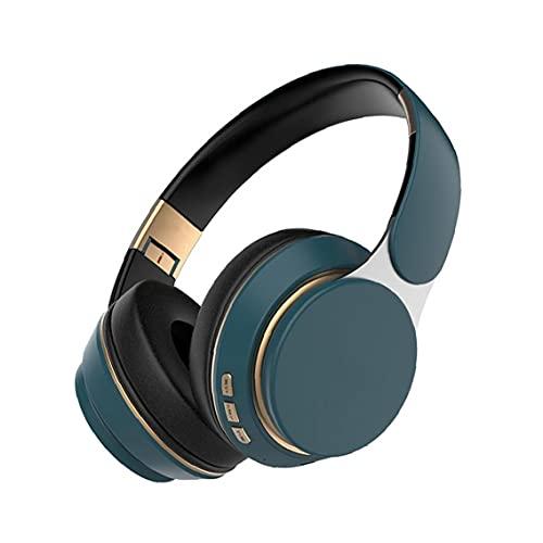 Deportes estéreo Bluetooth Headset Auriculares en la Oreja de cancelación de Ruido Wireless Gaming Headset con micrófono Nave Azul