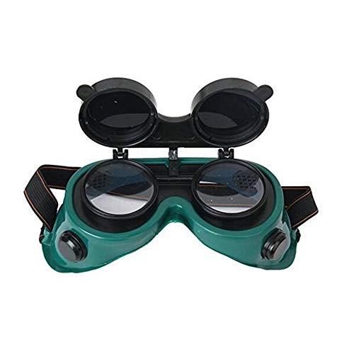 Ndier Flip-Up Front soldadura gafas con lentes de gafas de seguridad - El uso para soldadura, soldadura, Incendio, Soldadura y corte de metal verde