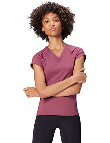Activewear Camiseta de Deporte Mujer, Morado (Damson), 42 (Talla del Fabricante: Large)