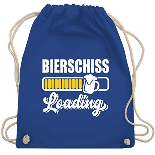 Shirtracer Karneval & Fasching - Bierschiss loading - Unisize - Royalblau - Mallorca - WM110 - Turnbeutel und Stoffbeutel aus Baumwolle