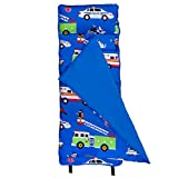 Wildkin Microfiber Nap Mat with Pillow for Toddler Boys and Girls, Ideal for Daycare and Preschool, Measures 50 x 1.5 x 20 Inches, Mom's Choice Award Winner, BPA-Free, Olive Kids (Heroes)