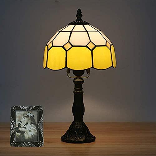 MUZIDP Lámpara de Mesa Tiffany, lámpara de Escritorio Grande de 15 Pulgadas Europeas Pintura de...