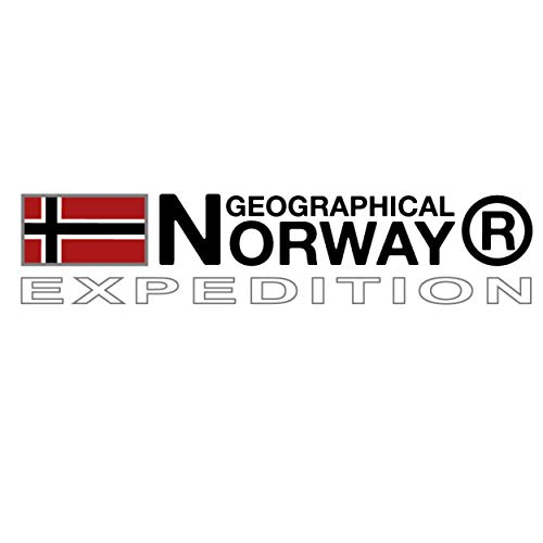 Geographical Norway ABIOSAURE MEN - Men's Warm Jacket Waterproof - Thick Coat Hooded Outdoor Fur - Winter Wind Jacket Lined Outside - Ideal Jacket Gift for Men (Black XL)