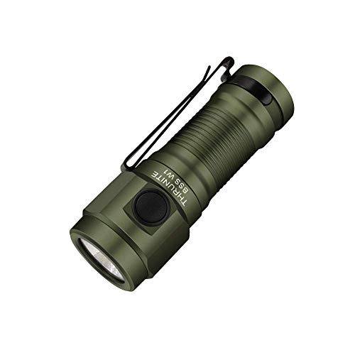 THRUNITE BSS W1 EDC Flashlight with Magnetic Tailcap, 693 High Lumens Keychain Pocket Flashlight with 16340 650mAh Battery Included - Green CW