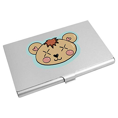 Azeeda 'Teddy Bear Head' Business Card Holder / Credit Card Wallet (CH00022512)