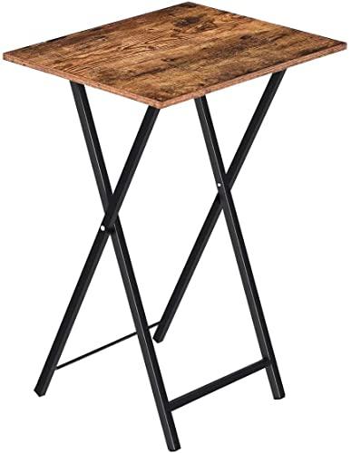 JCNFA MESAS Plegable televisor Mesa de bandeja,mesa de refrigerios,mesa de sofá for espacio pequeño,mesa auxiliar industrial for comer en el sofá,sala de estar,dormitorio,fácil almacenamiento,marco de