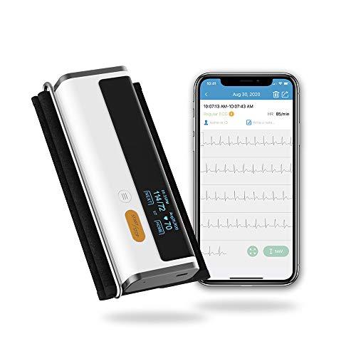 Bluetooth Blutdruckmessgerät und EKG-Monitor,CE- und FDA-Zulassung,Kostenlose App für Android und iOS zum Speichern unbegrenzter Daten,Kümmere dich in 30 Sekunden um dein Herz und deinen Blutdruck