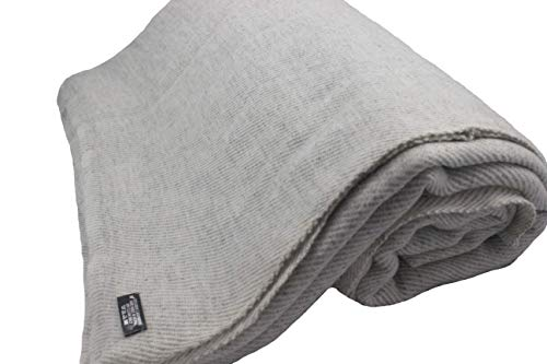 """Himalayan Extra Large Cashmere Throw,Natural Cashmere Blanket 90"""" x 108"""",Hand Made in Nepal"""