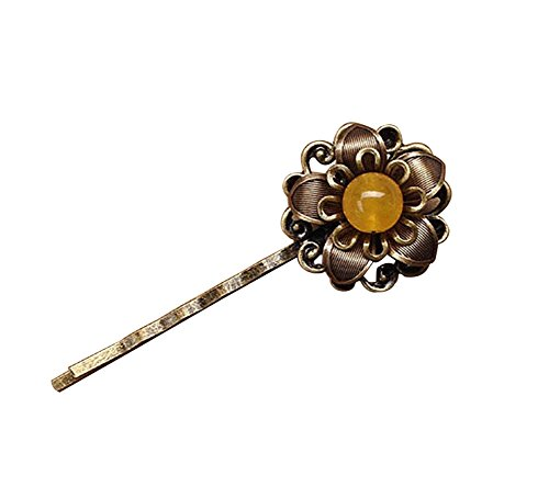 Set Of 3 Style Rétro National Wind Hairpin / Accessoires Cheveux(Yellow)