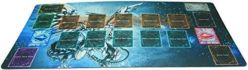 AArt TM Yo-gi-oh Custom Playmat Blue Eyes Chaos MAX Dragon Master Rule Link Plus Monster Zone | Size 23-7/8-Inch x 13-1/2-Inch