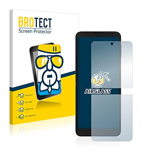BROTECT Panzerglas Schutzfolie kompatibel mit Samsung Galaxy Z Flip 3 5G - 9H Extrem Kratzfest, Anti-Fingerprint, Ultra-Transparent