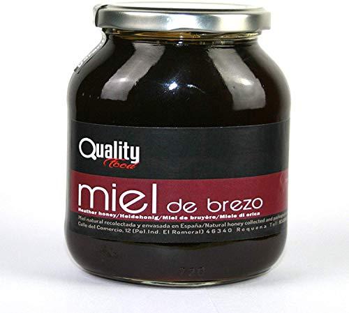 Miel pura de abeja 100{300ba9c675bcb8ce5db3ee8efc4e03986d03b6783478fcf85d9d30d9a2f77f3b}. Miel cruda de Brezo. 1 Kg. Producida en España. Sin pasteurizar ni calentar. Artesana de alta calidad. Tarro de cristal. Gran variedad de exquisitos sabores.