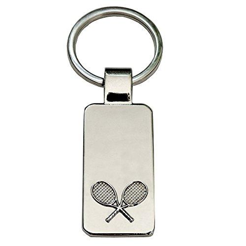 Schlüsselanhänger Tennis mit Gravur: Vorname/Name auf der Vorderseite