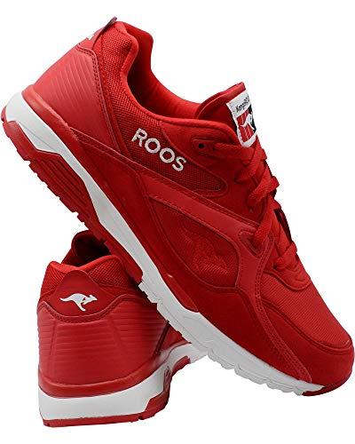 KangaROOS Mens Runaway Roos Sneaker,RED/White,9