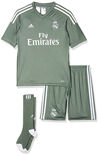 adidas Kinder Real Madrid Torwart Mini-Heimausrüstung, Tragrn/White, 164