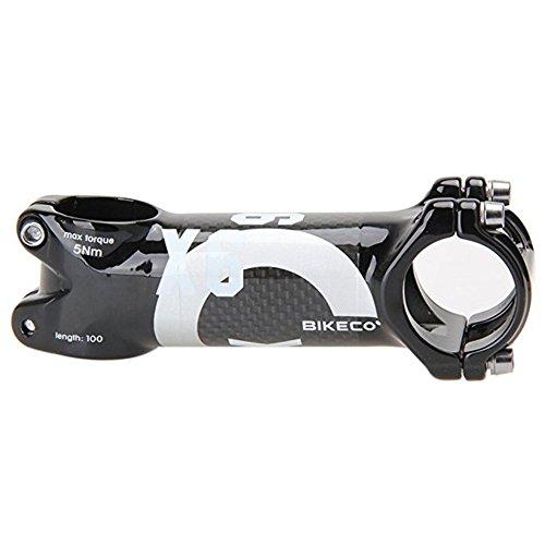 bikeco Aluminium & Carbon Fahrrad Lenkervorbau Lenker Vorbau, Super Leichtes Gewicht Faser Fahrrad Vorbau Road Bike MTB Fahrrad Vorbau Teile 6° Φ für die 31.8* 80/90/100/110mm 3K Glänzend, silber