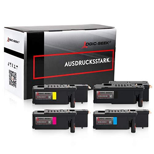 4 Toner kompatibel mit Dell E525w LED-Farblaser-Multifunktionsdrucker- Schwarz 2.000 Seiten, Color je 1.400 Seiten