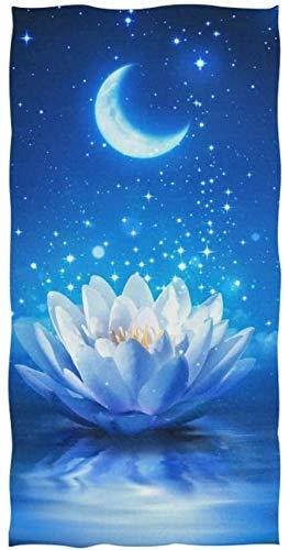 Rodde Handdoek Grootte 30x15 Inch Bloemen Waterlelie Galaxy Maan Ster Zeer Absorberend voor Thuis Keuken Badkamer Gym Zwembad Spa