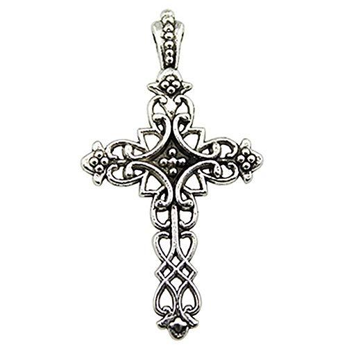 NEWME 30 unids 38x20mm cruz colgante de los encantos para la fabricación de joyas de bricolaje al por mayor artesanía hecha a mano pulsera collar llavero accesorios del bolso