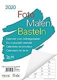 Foto-Malen-Basteln A4 weiß Notice 2020: Bastelkalender zum Selbstgestalten. Edler Fotokalender mit...