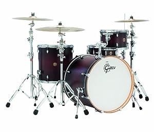 Gretsch Drums Catalina Maple CM1-E824SSDCB 4-Piece Drum Shell Pack, Satin Deep Cherry Burst