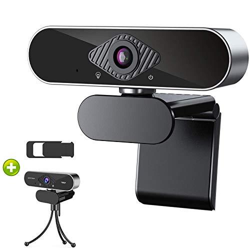 DEPSTECH WEBカメラ ウェブカメラ 1080P HD 30FPS 高画質 三脚&プライバシーカバー付き 広角 マイク内蔵 USB 自動調光補正 ウェブカム 会議用PCカメラ Windows 10/8/7, Mac OS, Android, Youtube, Skype, zoom, Facetime対応