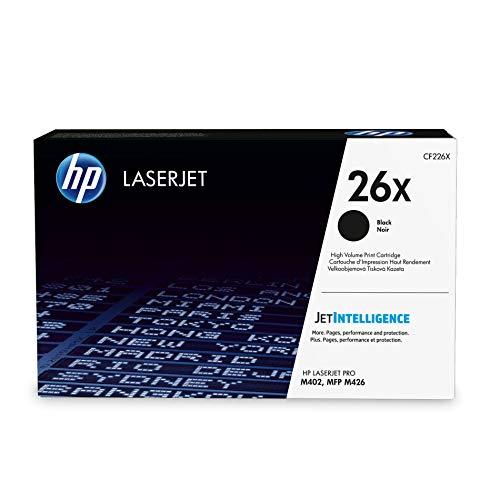 HP 26X CF226X Toner, Voor HP Laserjet Pro M402, Hp Laserjet Pro M426, Maat XL, Zwart