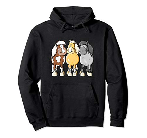 Shetlandpony für Shetty Freunde I Pferdemotiv I Pferd Pony Pullover Hoodie