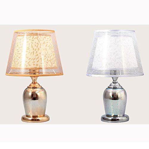 N/Z Tägliche Ausrüstung 3D-Kristalllampe Modernes Arbeitszimmer Wohnzimmer Schlafzimmer Kinderaugenschutz Tischlampe Wohnkultur Stilvolle Einfachheit (Gold Silber) (Farbe: Gold)