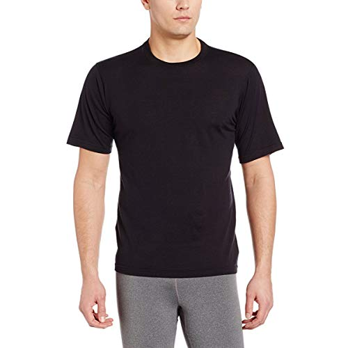 Minus33 Merino Wool 703 Algonquin Men's Lightweight Short Sleeve Crew Black Large