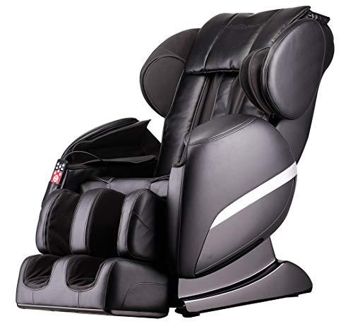 Home Deluxe - Massagesessel mit Wärmefunktion - Siesta schwarz V2 - Shiatsu Massage, 32 Luftkissen mit veränderbaren Druck und viele weitere Massageprogramme