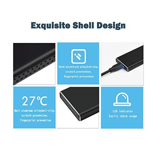 ADWITS USB 3.1 Gen2 10 Gbit/s Typ C auf NVMe M.2 Hochleistungs-PCIe-SSD-Adapter, tragbares SSD-Gehäuse Kompatibel mit Samsung WD ADATA und DREVO M.2 NVMe Solid State Drive -Schwarz