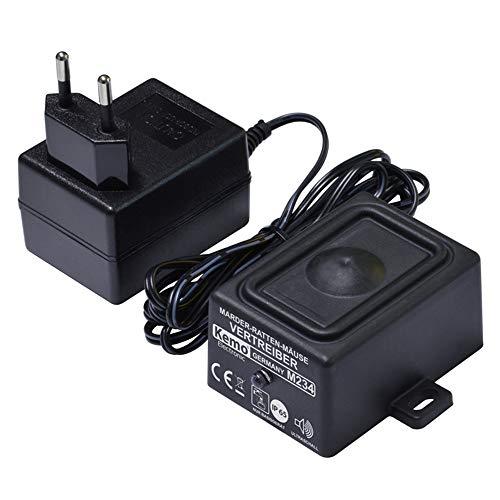 Kemo M234 Marder - Ratten - Mäuse Vertrieber. Aggressive Ultraschalltöne für Indoor + Outdoor. Erzeugt enorm lauten, sinusförmigen Ultraschall. Wasserdicht IP65