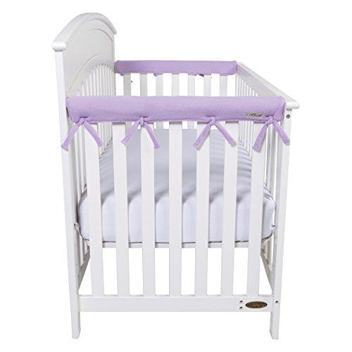 CribWrap Narrow 2 Short Lavender Fleece Rail Covers
