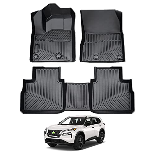 Cartist Floor Liners for 2021 Rogue All Weather Floor Mats Custom Fit 2022 Nissan Rogue Carpet Protection TPE Odorless