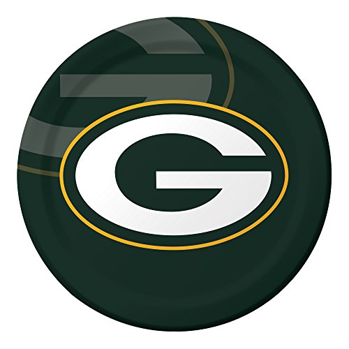 Creative Converting Officially Licensed NFL Dinner Paper Plates, 96-Count, Green Bay Packers -