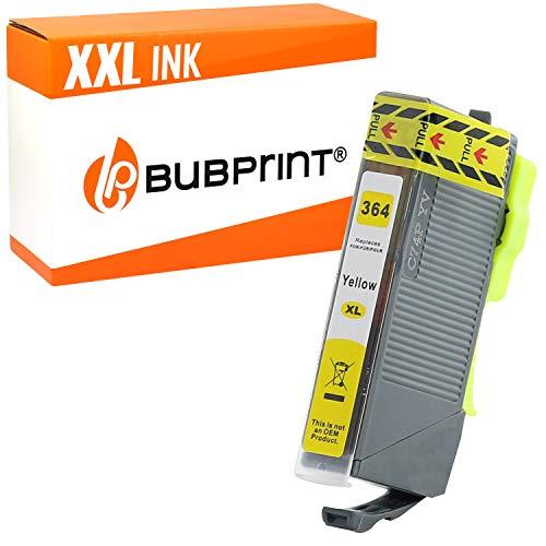 Bubprint Druckerpatrone kompatibel für HP 364XL 364 XL für DeskJet 3070A 3522 OfficeJet 4620 PhotoSmart 5525 6510 7520 e-All-in-One Plus B209A Gelb