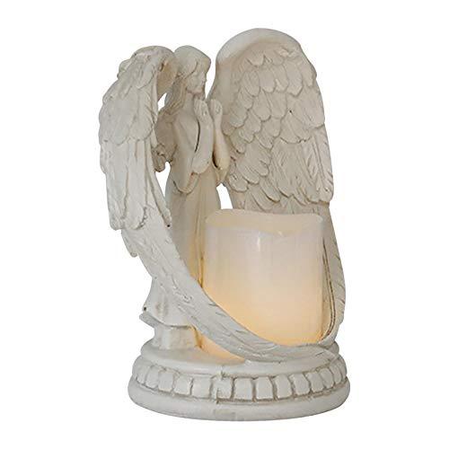 Engel Figur Kerze Teelichthalter Beileidsgeschenk Engel Figur mit LED Teelichthalter, Beileidsgeschenk, Beerdigung, Gedenkgeschenk in Erinnerung an einen geliebten Menschen