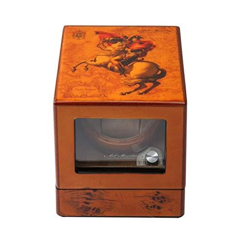 WXDP Enrollador de Reloj automático,de Individual, 5 Modos de rotación, Caja de presentación de Almacenamiento de Relojes de Madera (Color: A)