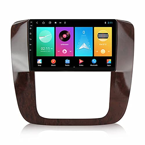 ADMLZQQ Radio de Coche navegación GPS Android 10 para Chevrolet Tahoe 2012 Estéreo de Coche FM USB Mandos Volante Enlace Espejo Bluetooth cámara de visión Trasera,M150s