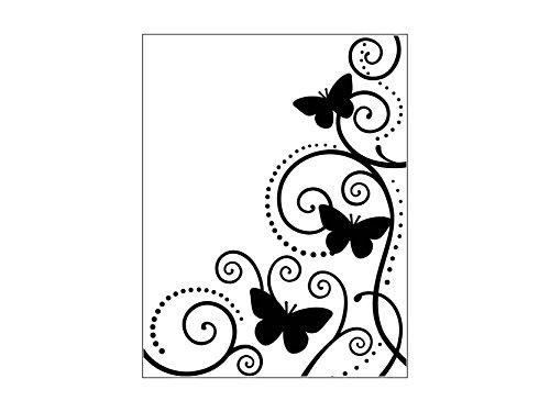 """Bira Craft 4.25"""" X 5.75"""" Embossing Folder, Assorted Designs. (Butterfly and Vine) 
