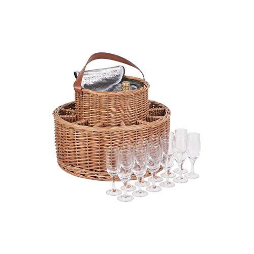 Red Hamper Vert Tweed glac�e Panier en Osier Garden Party