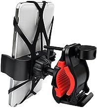 MMOBIEL Soporte Universal para Móvil, Montaje en Bicicleta o Moto en la Horquilla Incl. Montaje de Goma y Correa Silicón