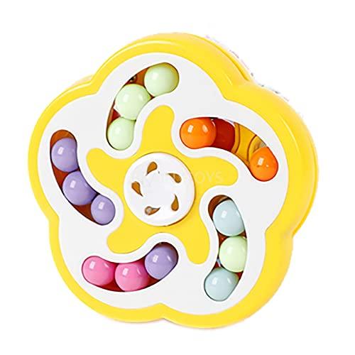 BRAINYTOYS 4 Piezas Cubo Magico Puzzle 3D Juguete 2 en 1 Giratorio Frijoles MáGicos Juguete Magic Bean Rotating Cube Toy Inteligentes EducacióN Temprana Giratorio con Forma Cubo MáGico